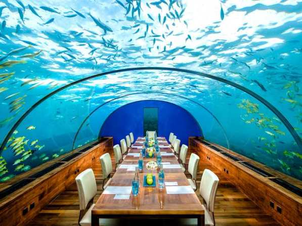 Ithaa undersea restaurant as a meeting venue